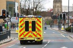 Ambulancia de la emergencia Foto de archivo libre de regalías