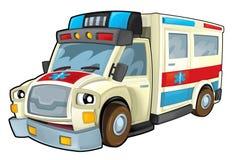 Ambulancia de la historieta Fotografía de archivo
