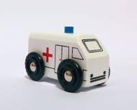 Ambulancia del juguete Imágenes de archivo libres de regalías
