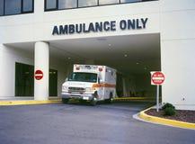 Ambulancia en el ER Fotos de archivo
