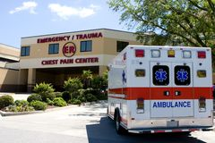 Ambulancia en el ER Fotos de archivo libres de regalías