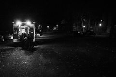 Ambulancia en la noche - 1873 Fotografía de archivo libre de regalías