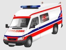 Ambulancia europea Imágenes de archivo libres de regalías