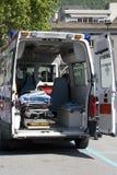 Ambulancia interior Imagenes de archivo
