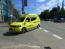 Ambulancia moderna Copenhague Fotos de archivo libres de regalías