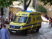 Ambulancia Portugal de la emergencia Imágenes de archivo libres de regalías