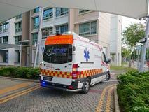 Ambulancia Van de Singapur del servicio de emergencia Imagenes de archivo