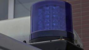 Ambulancias de la sirena, coche almacen de metraje de vídeo