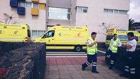 Ambulancias Lanzarote Foto de archivo libre de regalías