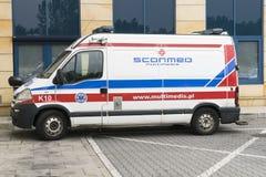 ambulans samochód German europy Monachium Obrazy Stock