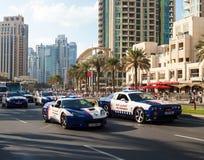 ambulansbileuropa germany munich Parade firar den nationella dagen Förenade Arabemiraten Royaltyfria Bilder