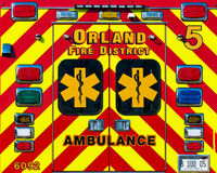 Ambulansdörrar Royaltyfri Foto