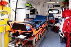 ambulansen details interioren royaltyfria bilder
