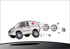 ambulansen fast royaltyfri illustrationer