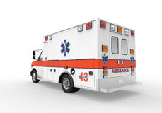Ambulans på vitbakgrund Arkivfoton