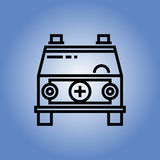 Ambulansowa ikona Płaski projekt Obraz Stock