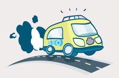 ambulansowy kreskówki ilustraci ratuneku seo Obrazy Stock