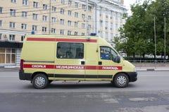 Ambulansowy samochodowy rosjanin Obraz Stock