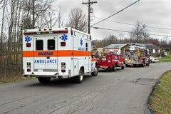 ambulansräddningsaktion Fotografering för Bildbyråer
