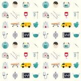 Ambulanssymboler stock illustrationer