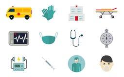 Ambulanssymboler vektor illustrationer