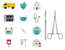 Ambulanssymbolsvektor vektor illustrationer