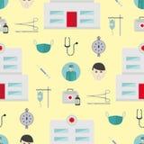 Ambulanssymbolsvektor stock illustrationer