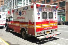 Ambulanza di FDNY Fotografie Stock Libere da Diritti