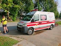 Ambulanza Van di Singapore di servizio di soccorso immagini stock