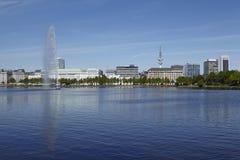 Amburgo - Alster interno Fotografie Stock Libere da Diritti
