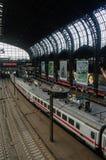 AMBURGO, GERMANIA - 18 LUGLIO 2015: Hauptbahnhof è la stazione ferroviaria principale nella città, nell'più occupato nel paese e  Immagine Stock