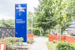 Amburgo, Germania - 13 luglio 2017: Le sedi di Beiersdorf è responsabili della fabbricazione del personale Fotografie Stock