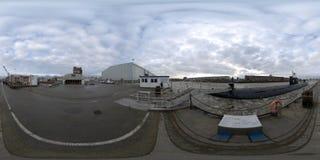 Amburgo vista della via di panorama di 360 gradi Immagine Stock