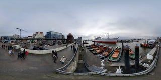 Amburgo vista della via di panorama di 360 gradi Fotografia Stock