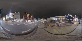 Amburgo vista della via di panorama di 360 gradi Immagine Stock Libera da Diritti
