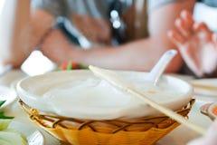 Ambuyat - национальное блюдо Брунея Стоковые Фотографии RF