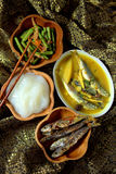 Ambuyat - Brunei national dish Royalty Free Stock Images