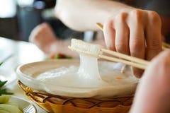 Ambuyat - prato nacional de Brunei Darussalam imagens de stock