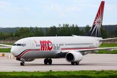 AMC Airlines Boeing 737-800 SU-BPZ que taxiing no interna de Domodedovo Fotografia de Stock Royalty Free