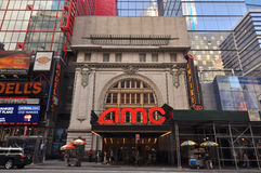 AMC Empire 25, Times Square, New York City. AMC Empire 25 Theatre, Times Square, New York City, USA royalty free stock photos