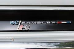 AMC Hurst SC Rambler emblem on display Stock Image