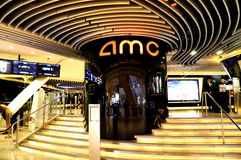 Amc movie theatre hong kong royalty free stock image