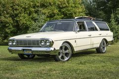 Amc station wagon. Picture of vintage amc station wagon during convention chrysler at st liboire august 4-5 2018 stock images