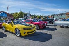 Amcar, yellow and black chevrolet corvette Stock Photography