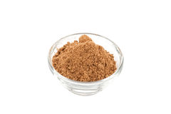 Amchur powder in glass bowl Stock Image