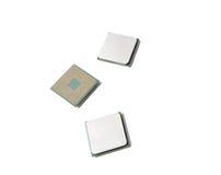 AMD CPU 被隔绝的3个片断 免版税库存照片