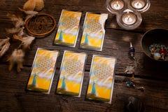Amd de las cartas de tarot otros accesorios Foto de archivo libre de regalías
