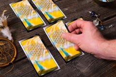 Amd de las cartas de tarot otros accesorios Fotografía de archivo libre de regalías