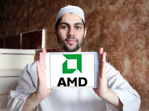 Amd logo Royalty Free Stock Photo