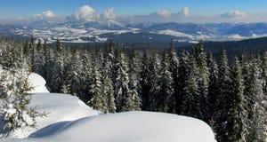 amden teren blisko panoramy narciarstwa Switzerland zima Zdjęcie Stock